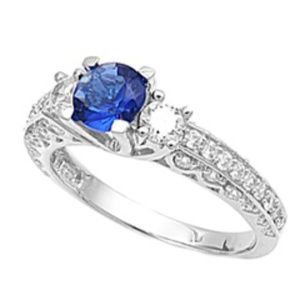 Blue Sapphire .925 Sterling Silver Ring